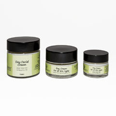 Day face cream $40 60ml, 30ml $25, 15ml $15