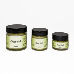 Chest rub 60ml $40, 30ml $25, 15ml $15